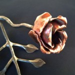 Forged Copper Rose by David Robertson